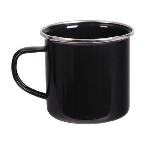 Enamel Camping Mug Black