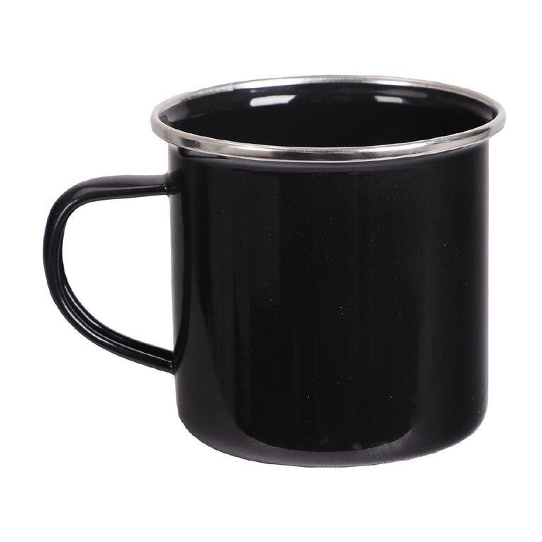 Enamel Camping Mug Black, , hi-res
