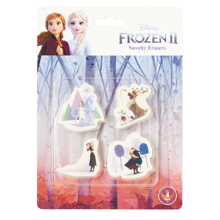 Frozen 2 Q2 Novelty Erasers 4 Pack White, , hi-res image number null