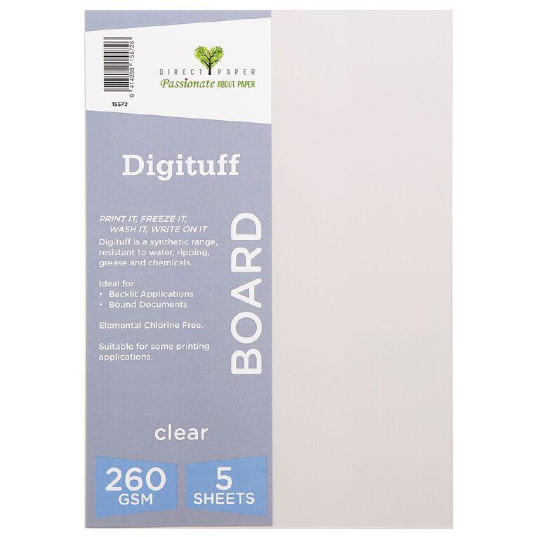 Direct Paper Digituff 260gsm 5 Pack Clear A4, , hi-res
