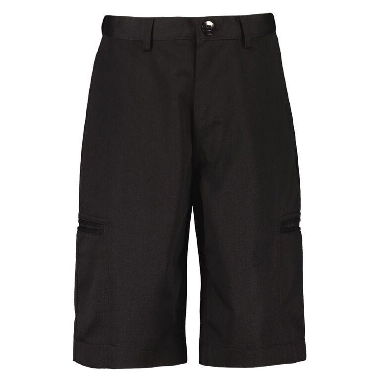 Schooltex Unisex Shorts, Black, hi-res