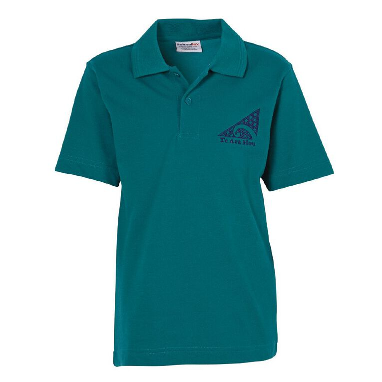 Schooltex TKKM O Te Ara Hou Napier Short Sleeve Polo with Embroidery, Jade, hi-res