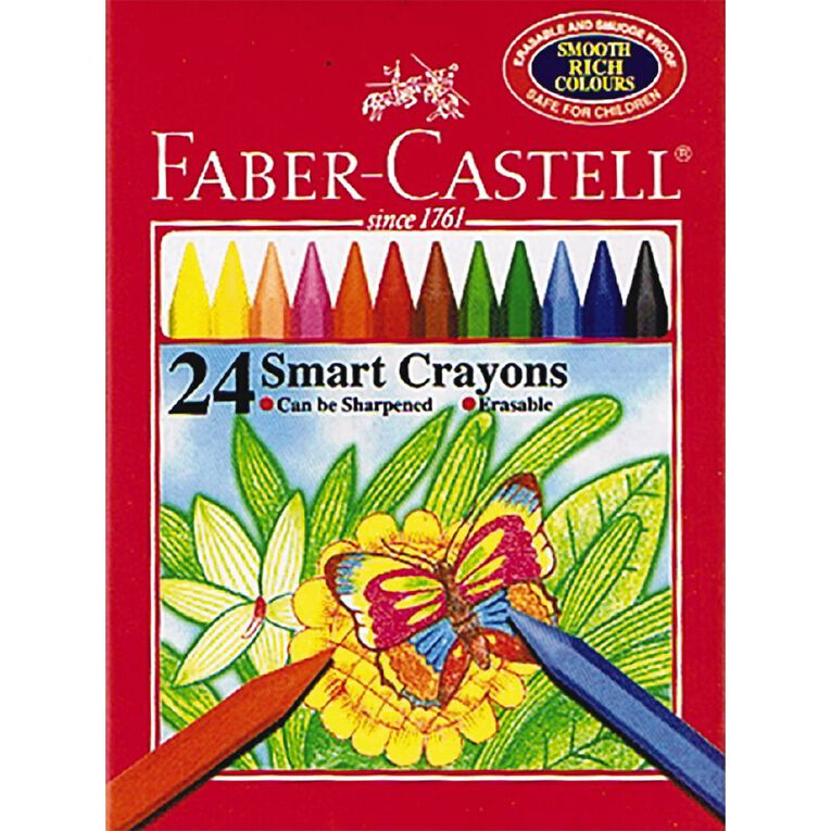 Faber-Castell Smart Crayons 24 Pack, , hi-res