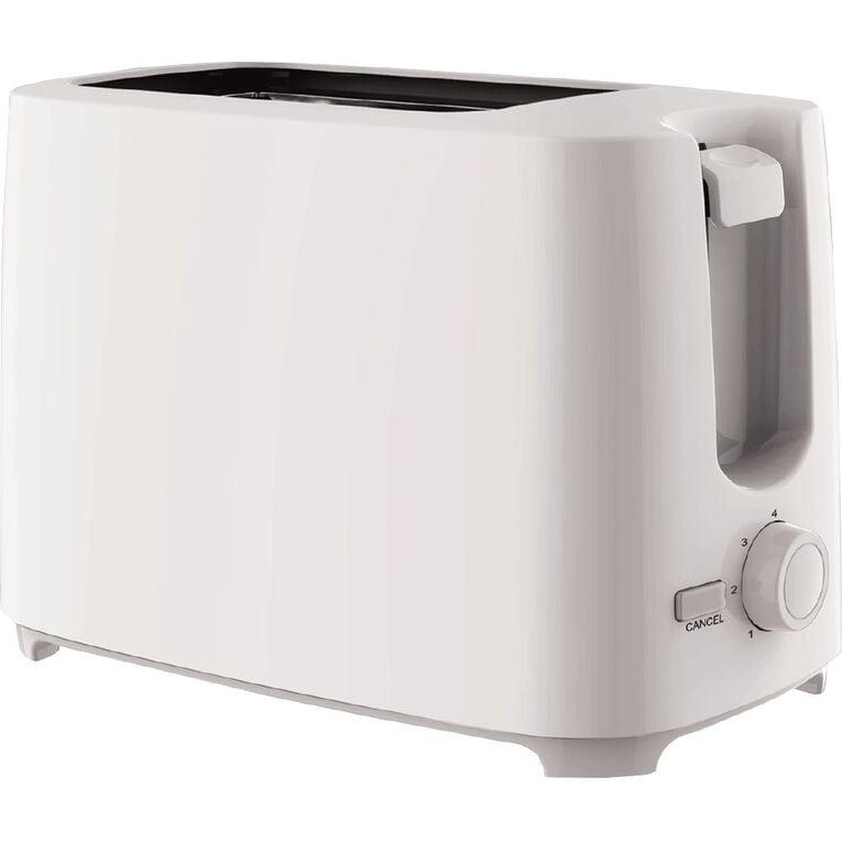 Living & Co Toaster 2 Slice White, , hi-res