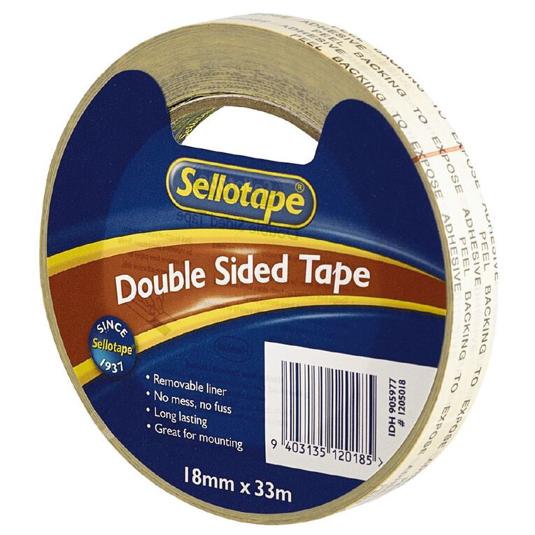 Doublesided Tape 18mm x 33m Clear, , hi-res