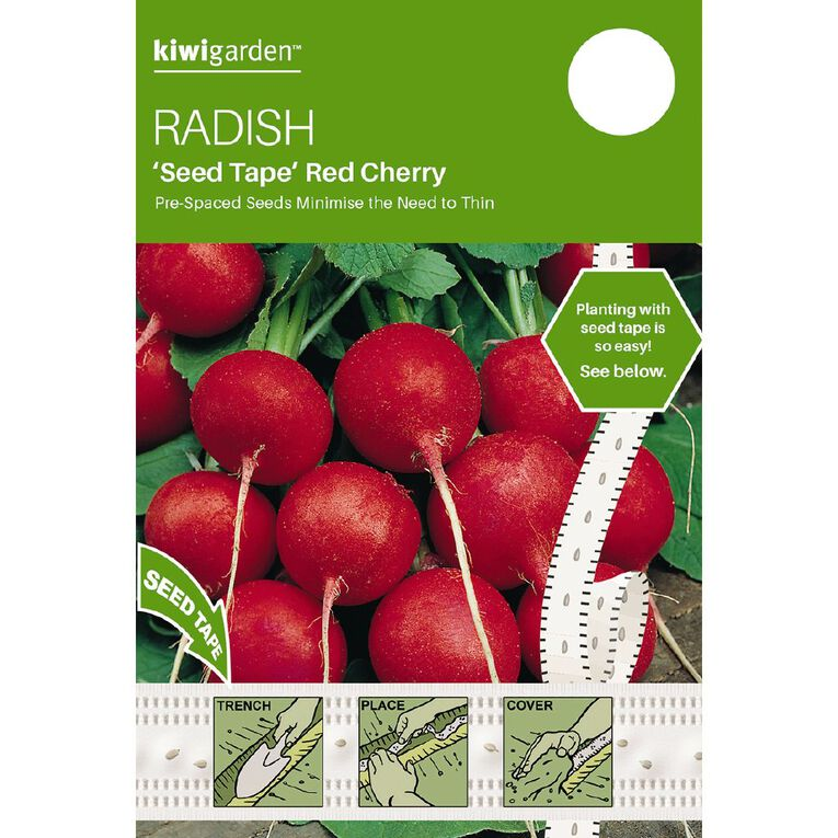 Kiwi Garden Seed Tape Radish Red Cherry, , hi-res
