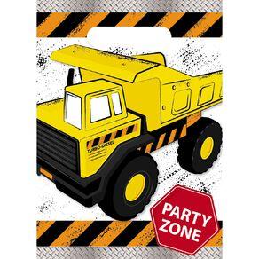 Artwrap Construction Party Bags 8 Pack