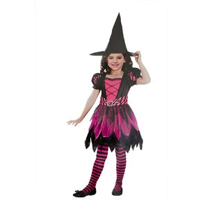 Amscan Glitter Witch Costume Pink Small 5-7 Years Pink