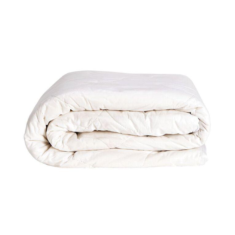 Living & Co Mattress Protector Cotton White King, White, hi-res