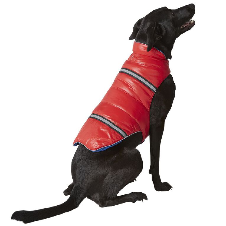 Petzone Reversible Puffer Jacket Red/Blue XL, , hi-res