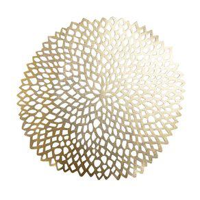 Living & Co PVC Placemat Flora Gold 35cm