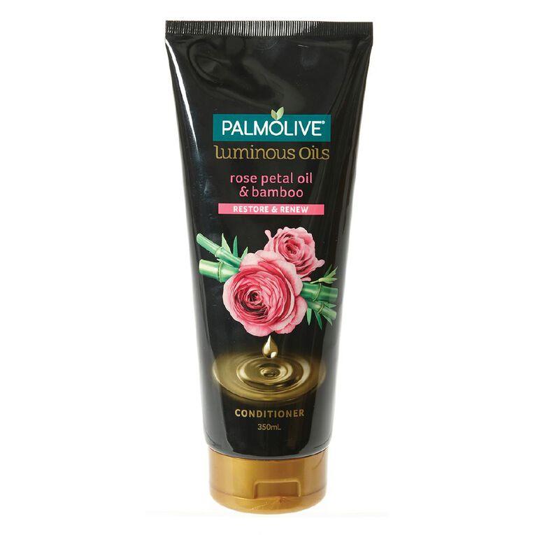 Palmolive Luminous Oils Rose Petal Oils & Bamboo Conditioner 350ml, , hi-res