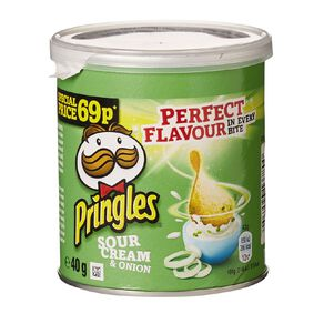 Pringles Sour Cream And Onion 40g
