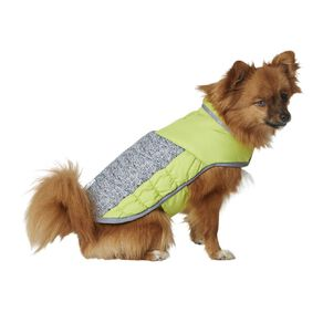Simply Dog Lime Quilted Puffer Jacket S