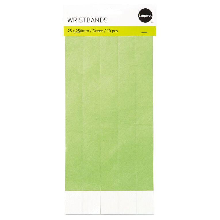 Impact Wristbands Green 10 Pieces, , hi-res