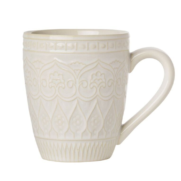 Living & Co Living & Co Glazed Moroccan Mug Cream, , hi-res