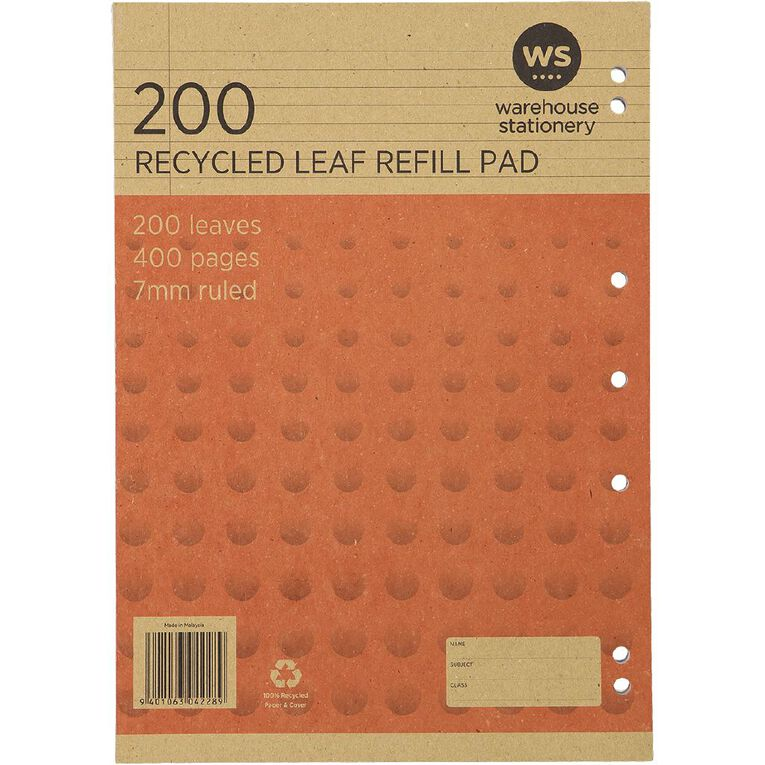 WS Recycle 200 Leaf Refill, , hi-res