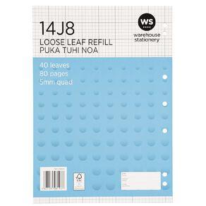 WS Pad Refill 14J8 5mm Quad 40 Leaf Punched