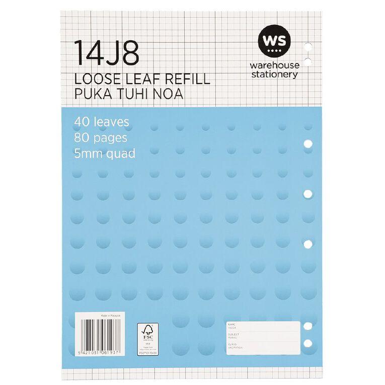 WS Pad Refill 14J8 5mm Quad 40 Leaf Punched, , hi-res