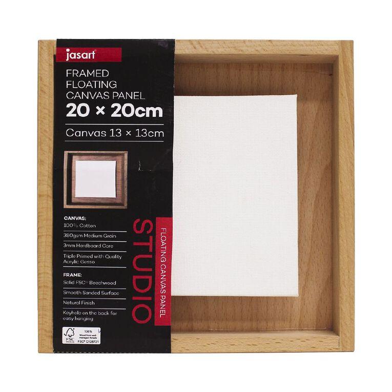 Jasart Framed Floating Canvas Panel 20x20cm, , hi-res