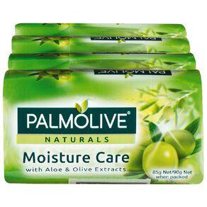Palmolive Naturals Aloe & Olive Moisture Care 90g Soap 4 Pack Green