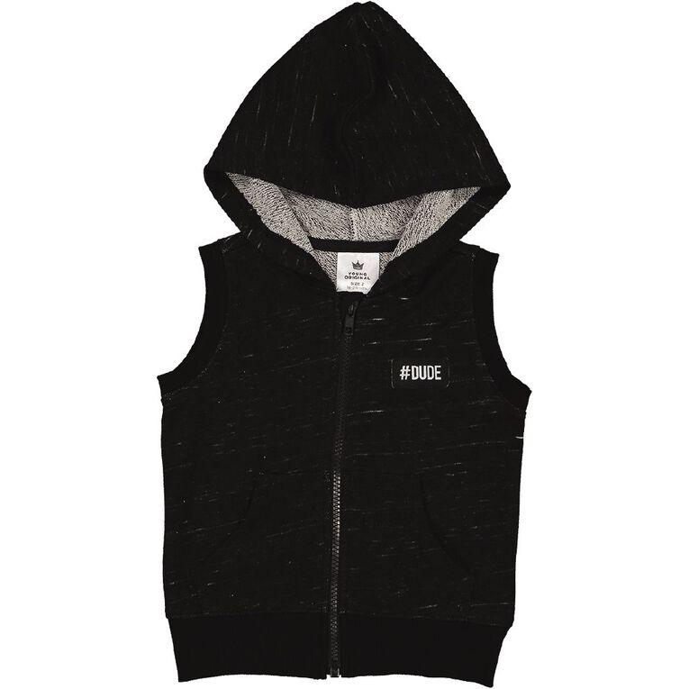 Young Original Toddler Sweat Vest, Grey Mid, hi-res