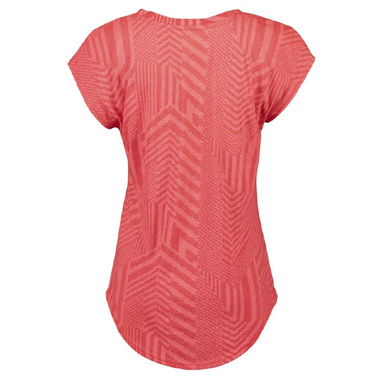 Active Intent Women's Burn Out Extended Shoulder Tee, Pink Mid DIVA PNK, hi-res image number null