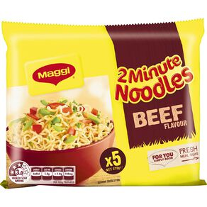 Maggi 2 Minute Noodles Beef 5 Pack