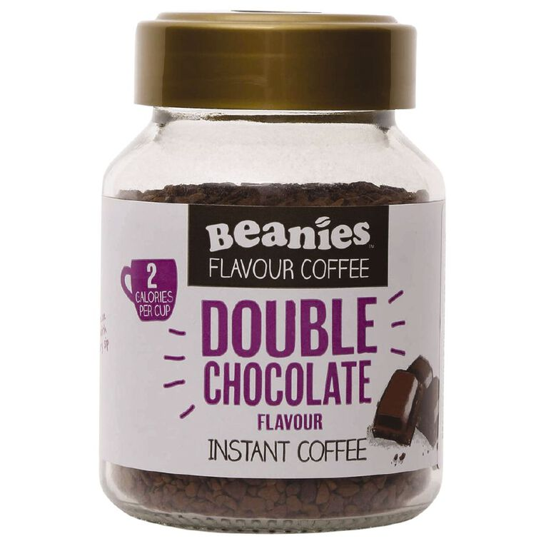 Beanies Double Chocolate Flavour Instant Coffee 50g, , hi-res