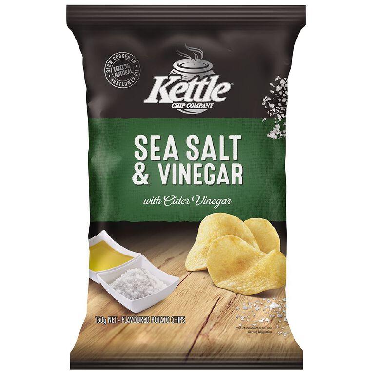 Kettle Chip Company Kettle Sea Salt Vinegar 150g, , hi-res
