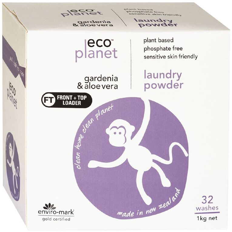 ECO Planet Laundry Powder Gardenia & Aloe Vera 1kg, , hi-res