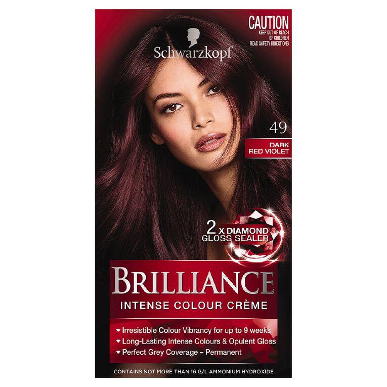 Schwarzkopf Brilliance 49 Dark Red Violet, , hi-res
