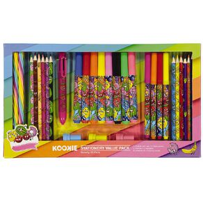 Kookie Novelty Stationery Set Scented 30 Piece Multi-Coloured