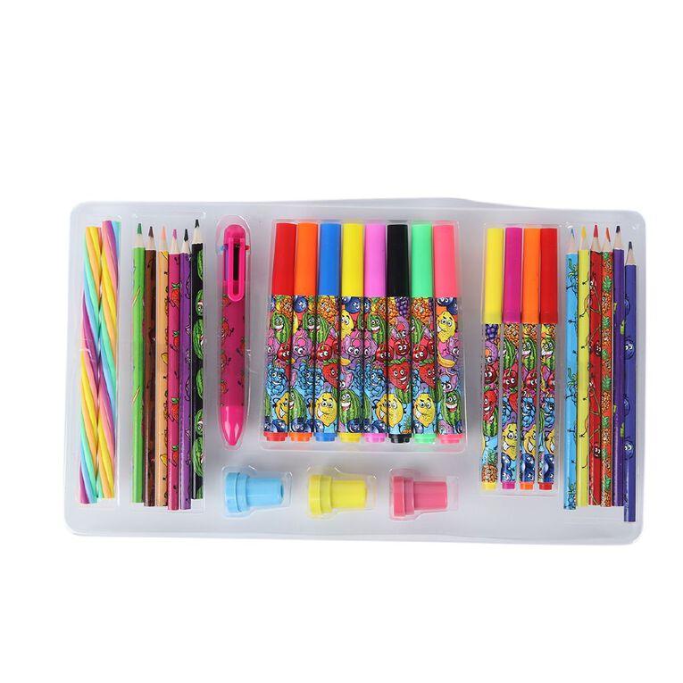 Kookie Novelty Stationery Set Scented 30 Piece Multi-Coloured, , hi-res