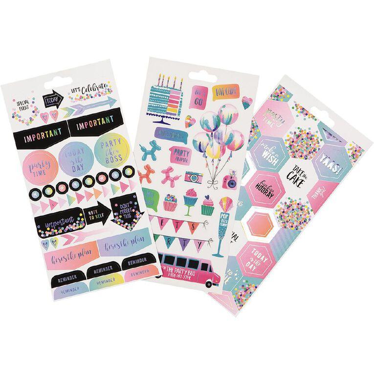 Uniti Sticker Book Celebration 16 Sheets, , hi-res