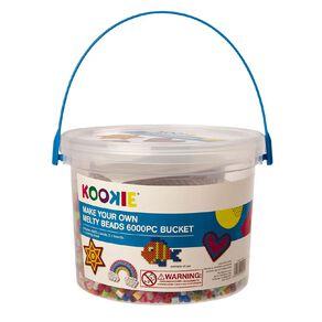 Kookie Melty Beads Bucket 6000 Piece
