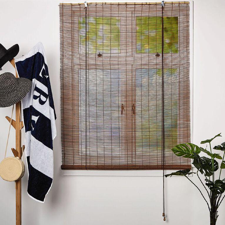 Homeworks Bamboo Roll Up Blind Natural 120cm x 210cm, Natural, hi-res