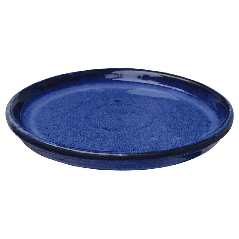 Kiwi Garden Round Saucer Blue 32cm, , hi-res