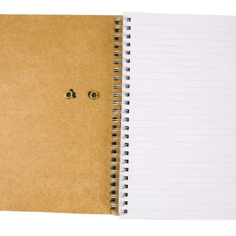 GBP Stationery Notebook Card Elastic Black/Tan 80 Leaf A5, , hi-res image number null