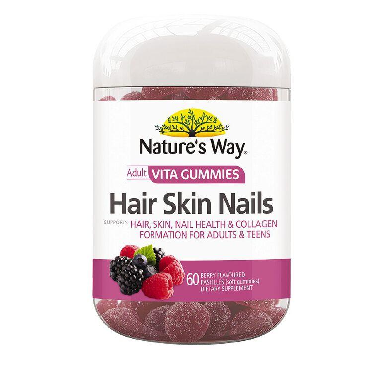 Nature's Way Adult Vita Gummies Hair Skin & Nails 60s, , hi-res