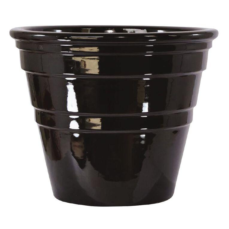 Kiwi Garden Bingo Pot Black 30cm, , hi-res