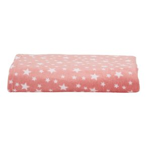 Living & Co Kids Throw Coral Fleece Starlight Pink One Size