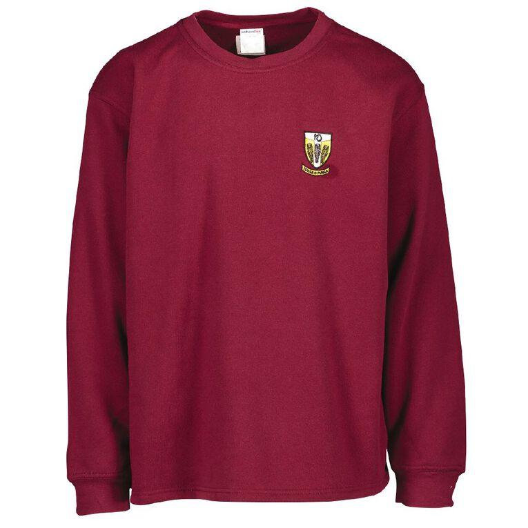 Schooltex Tikipunga High Tunic Sweatshirt with Embroidery, Burgundy, hi-res