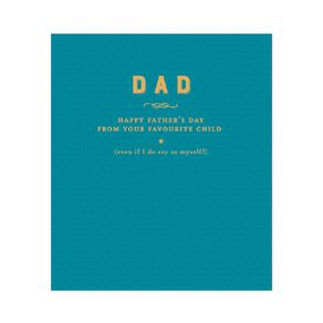 John Sands Father's Day Card Dad Conv Typography