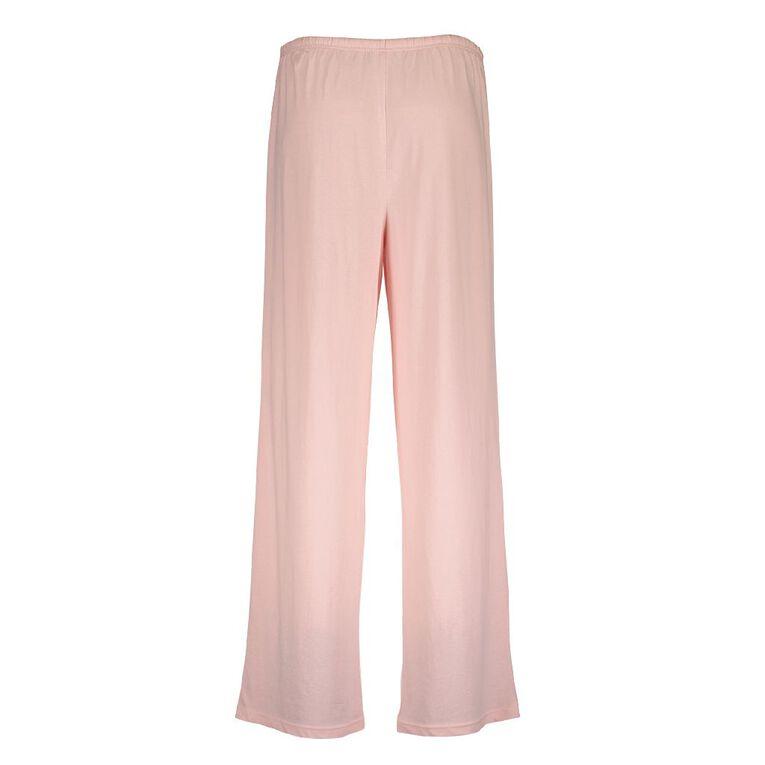 H&H Women's Knitted Plain Pyjama Pants, Pink, hi-res