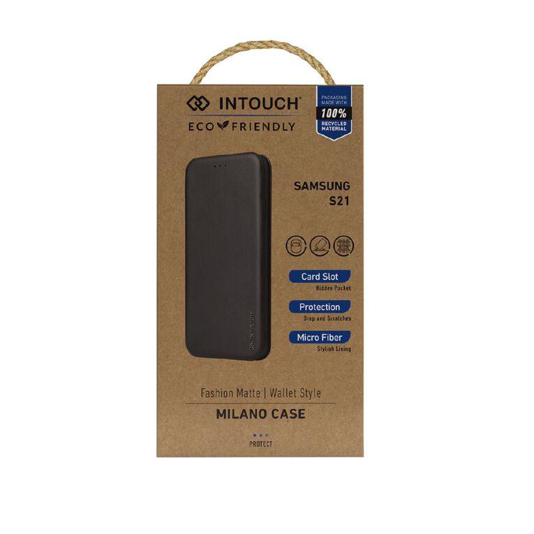 INTOUCH Samsung S21 Milano Wallet Case Black, , hi-res