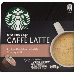 Starbucks Dolce Gusto Cafe Latte 12 Capsules