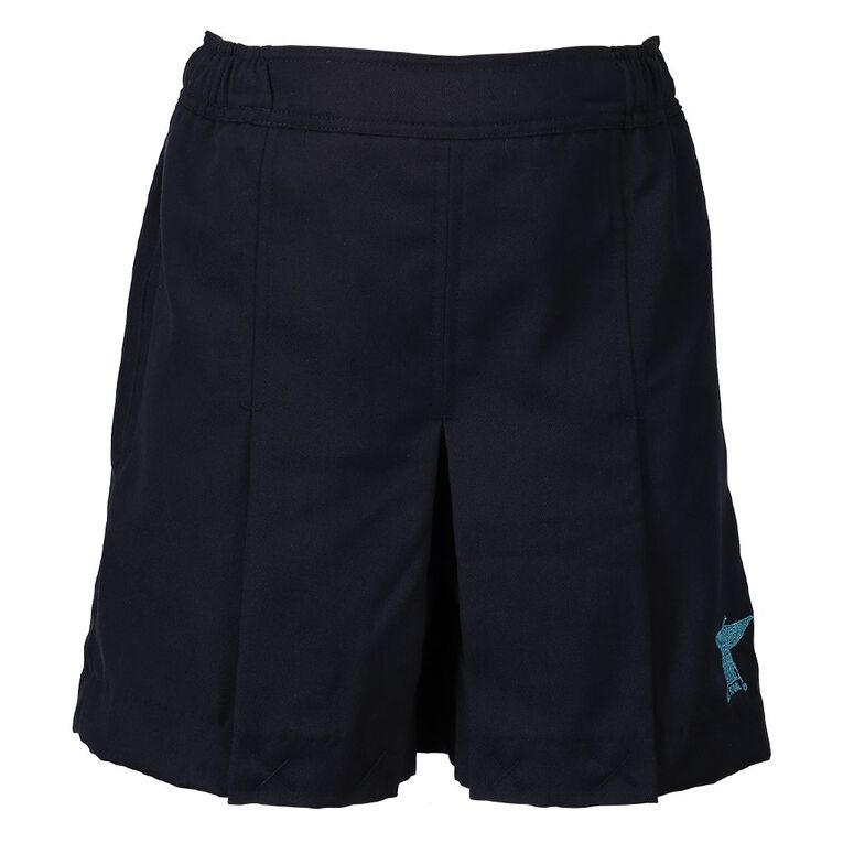 Schooltex Rowandale Skort with Embroidery, Navy, hi-res