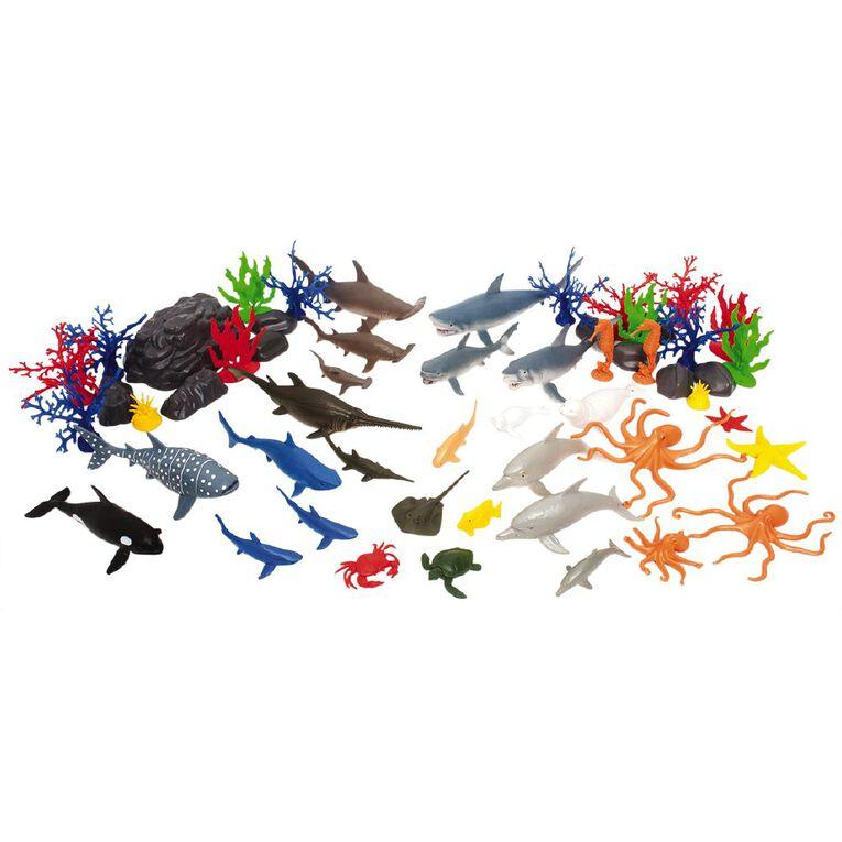 Sea Animals & Accessories 55 Pieces, , hi-res