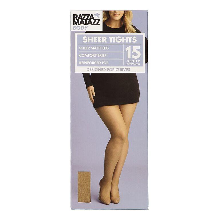 Razzamatazz Body 15D Sheer Tights, Natural, hi-res